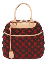 Auth LOUIS VUITTON Handbag Beig Faux Leather,Leather Medium Logo RVB0174 - $3,524.40