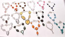 Labradorite & Mix stone Wholesale Lots 10pcs 925 Silver Overlay Fashion ... - $37.99