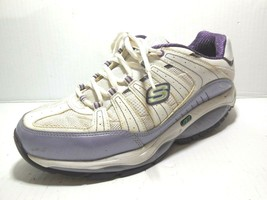 Skechers Women's Shape Ups Kinetix Response Sneaker White Purple Sz 9.5 ... - $28.49