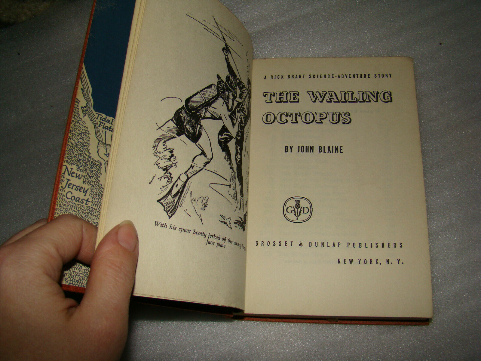 Vtg 1956 THE WAILING OCTOPUS Rick Brant Electornic Adventure John Blaine HC Book