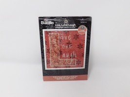 Bucilla Counted Cross Stitch Kit - Live Love Laugh - $12.34
