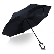 Double Layer Inverted Umbrellas Reverse Folding Umbrella with Windproof ... - $22.14
