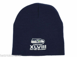 Seattle Seahawks - NFL Football Super Bowl XLVIII Knit  Hat/Beanie  Blue - $18.04