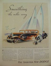 1932 DODGE SIX & EIGHT SMOOTHING THE MILES AWAY SAILBOATS PRINT AD - $9.99