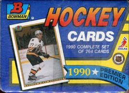 Official 1990 Bowman Hockey 264 Cards - Complete Factory Set - Sealed - $3.51