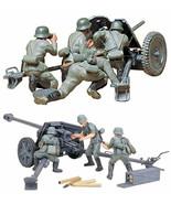 2 Tamiya German Anti-Tank Gun Models - 75 mm PAK 40/L46 and 37 mm PAK 35... - $29.69