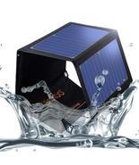 SOKOO 22W 5V 2-Port USB Portable Foldable Solar Charger with High Black - $74.80 CAD