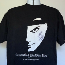 The Amazing Johnathan show Autographed Fu*k Yeah T Shirt Mens XL 50/50 B... - $21.73