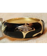 Apt. 9 Hinge Black Enamel Simulated Crystal Hinge Cuff Bangle Bracelet - $19.99