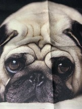 Cute Pug Dog Pillow Cover  Cotton Blend 18x18 For Accent Pillow (1) Very... - $6.00