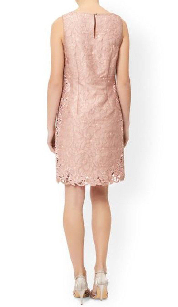 MONSOON Daisy Jacquard Dress Pink Size UK 12 BNWT image 4