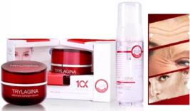 2x30g TRYLAGINA Ultimate Collagen Lifting Serum 10x & Oil Free Foaming 1 pc NEW - $198.00