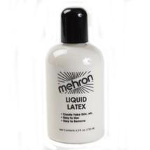 Mehron Liquid Latex 9 oz Clear Make Skin Textures  Appliances Makeup - $15.83