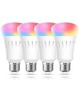 Smart LED WiFi Light Bulb, LOHAS LED Daylight RGB A19 Bulb Color Changin... - $41.85