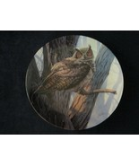 GREAT HORNED OWL collector plate DANIEL SMITH Majestic Birds WILDLIFE - $29.99