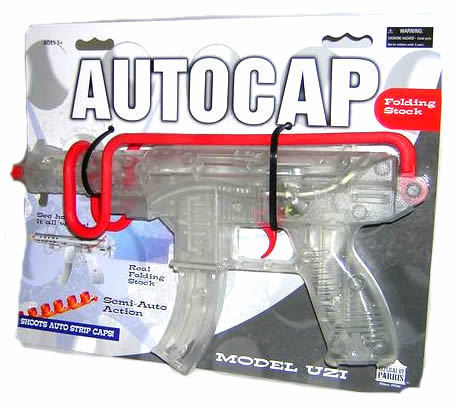 SEMI AUTO ACTION MODEL UZI / TOY CAP GUN REPLICA PROP