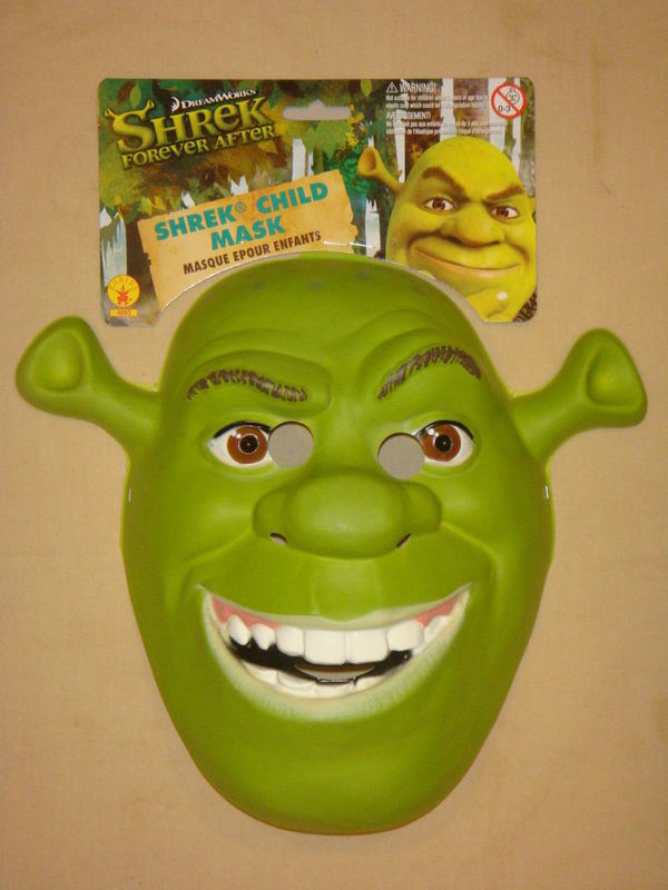 SHREK FOREVER AFTER PVC MASK NEW CHILD ADULT SIZE