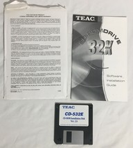 """TEAC CD-532E CD-ROM Drive Vintage 3.5"""" Disk Driver Software & Manual Win... - $11.87"""