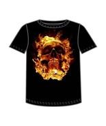 SKULL ON FIRE HALLOWEEN T-SHIRT NETHERWORLD TEE X-LARGE - $10.99
