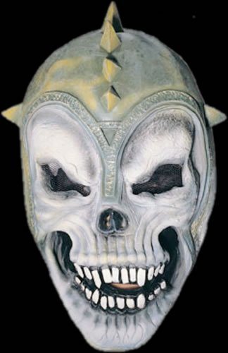 SKULL GLADIATOR HALLOWEEN MASK ADULT LATEX NEW