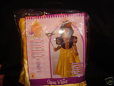 SNOW WHITE  PRINCESS DISNEY COSTUME WITH MASK TIARA