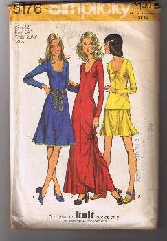 SIMPLICITY 5176 - Miss Dress, Top, Mini-Skirt - Size 12 - UNCUT / Factory Folded
