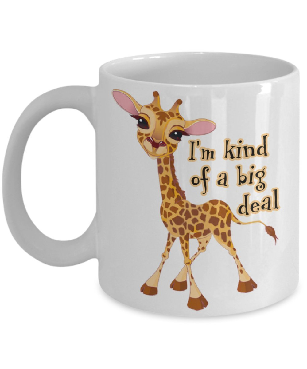 Primary image for April The Giraffe. I'm Kind Of A Big Deal 11 oz White Ceramic Coffee Mug. April