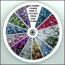 1300 Pcs 2MM Rhinestones Multi Nail Art   + Wheel - $21.25