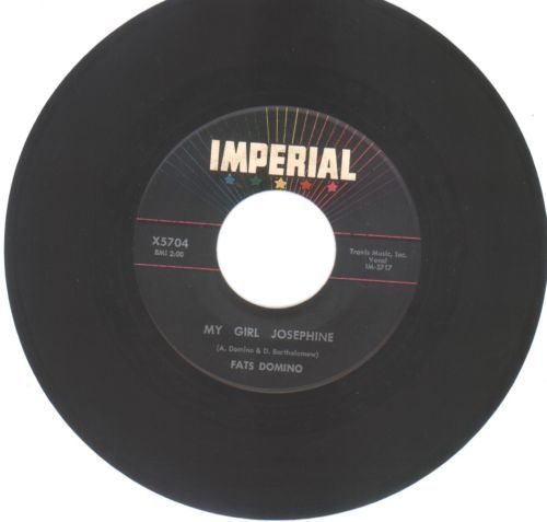 Primary image for FATS DOMINO 45 rpm My Girl Josephine b/w Natural Born Lover (Imperial 5704)