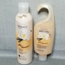 Avon Senses Body Care VANILLA Hydrating Shower Gel 5 oz & Body Lotion 8.... - $9.65