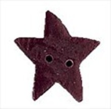 "Large Black Cherry Star 3310L handmade clay button .5"" JABC Just Another... - $1.40"
