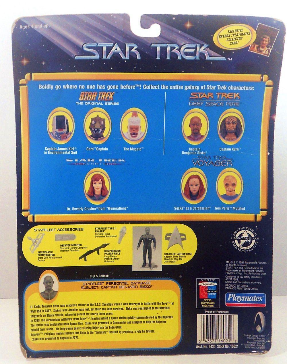 Star Trek DS9 Captain Benjamin Sisko Playmates 1997