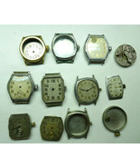 WALTHAM ANTIQUE CUSHION WATCHES CASES MOVEMENTS FOR RESTORATION AND TREN... - $382.17