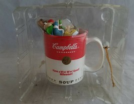 1999 Campbell's Soup Kids Christmas Ornament Millennium Mug - $12.00