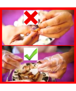 SALE! 100 pcs Disposable 3-finger Gloves for Finger Food -  BUY ONE GET ... - $12.98