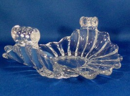 Heisey Rolled Sided Glass - Candy Dish Marked H Scalloped Edge No Damage... - $4.95