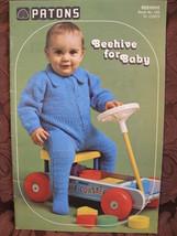 Vintage Patons Knitting Crochet Patterns BABY Suit Dress Cardigan Jacket BABIES  - $5.99
