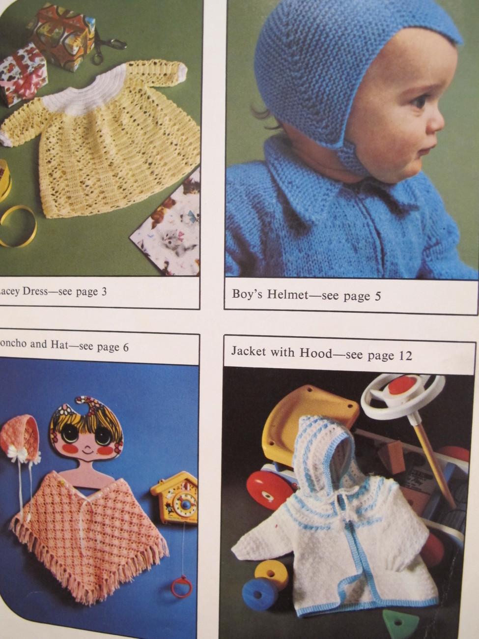 Vintage Patons Knitting Crochet Patterns BABY Suit Dress Cardigan Jacket BABIES