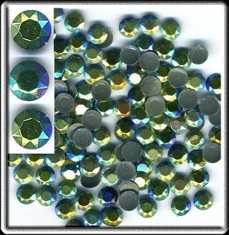 Primary image for 1440 RHINESTUDS Faceted Metal 5mm AB ICE SEA HotFix 10g