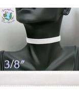 White VELVET Choker 3/8 inch 10 mm Custom Size Handmade USA snow victori... - $5.50