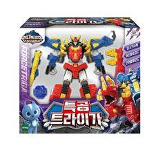 Miniforce Force Triga Super Dinosaur Power Action Figure Transforming Toy Robot image 4