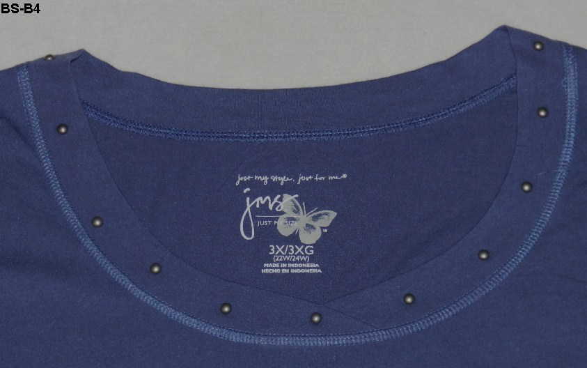JMS Womens Plus Sz 3x/3xg (22w/24w) Slate Blue Tee Shirt