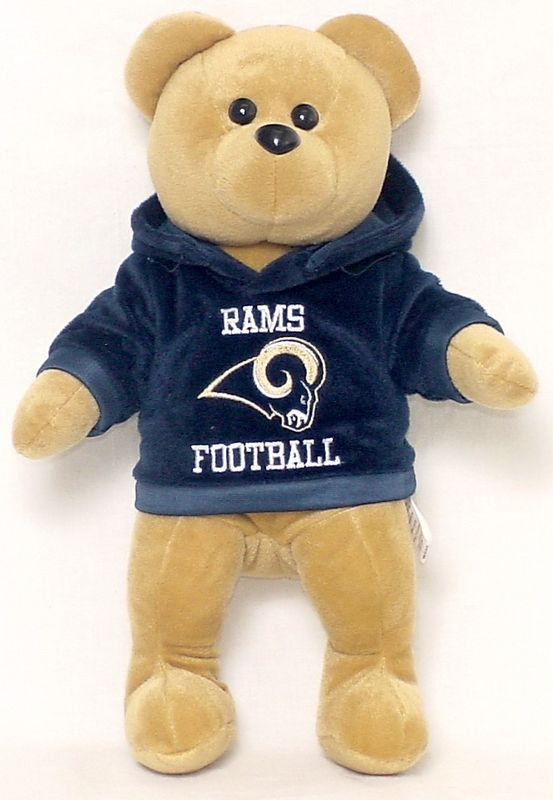 "ST LOUIS RAMS 14"" PLUSH HOODIE TEDDY BEAR NEW NFL"