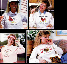"""Counted Cross Stitch Sassy Sweats  Leisure Arts #530 """"I'm Mom That's Why"""" Nos - $4.00"""