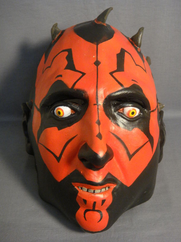 STAR WARS DARTH MAUL TEEN / ADULT SIZE LATEX HALLOWEEN MASK NEW