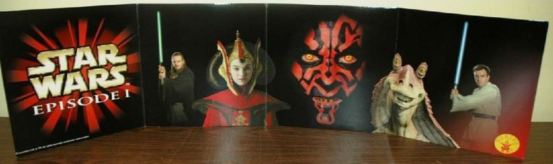 STAR WARS EPISODE 1 CARDBOARD FOLD OUT POSTER NEW