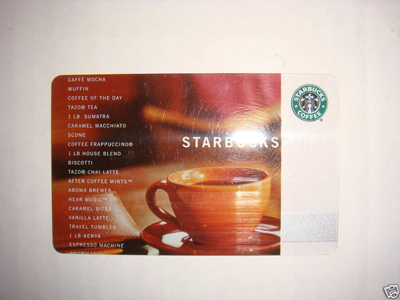 STARBUCKS CARD 2002 CUP CARD FIRST CORE GIFT CARD