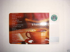 STARBUCKS CARD 2002 CUP CARD FIRST CORE GIFT CARD - $17.95