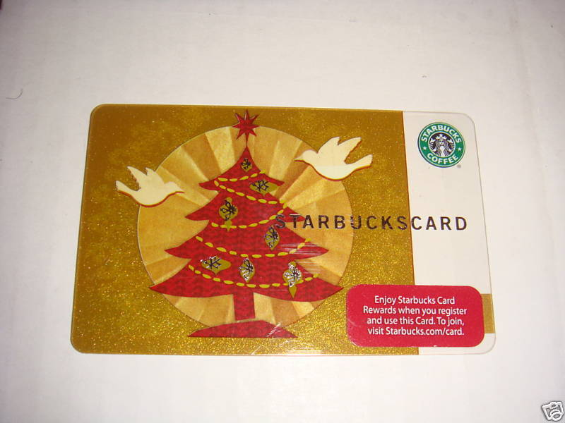 STARBUCKS CARD 2008 CHRISTMAS DAY GIFT CARD