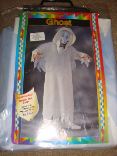 STUDIO CLASSICS MYSTERY FACE GHOST COSTUME CHILD SIZE LARGE